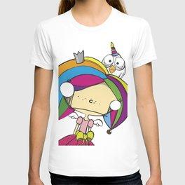 fairy princess and chicken unicorn T-shirt