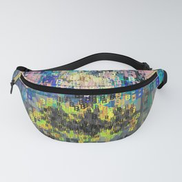 Bat Type Man - Abstract Pop Art Comic Fanny Pack