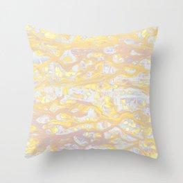 Baesic Wet Paint Gold Throw Pillow
