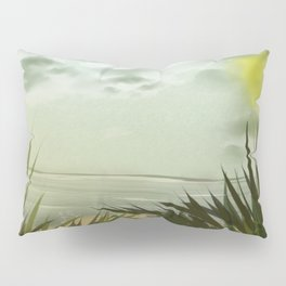 Digital Painting, Pastel Landscape Pillow Sham