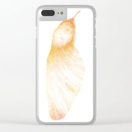 Samara seed (color) Clear iPhone Case
