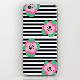 poppies stripes iPhone Skin