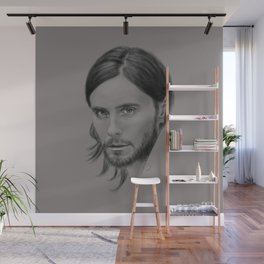 Jared Leto Digital Portrait grey LLFD Wall Mural