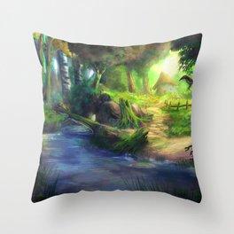 Elven Forest 4 Throw Pillow
