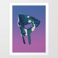 mf doom Art Prints featuring MF DOOM Mask by bluhak