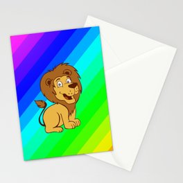 baby toon lion Stationery Cards