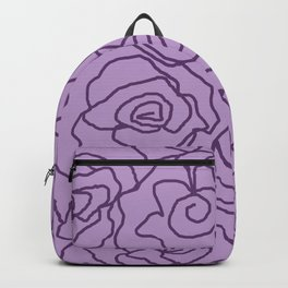 Lavender Dreams Roses - Light with Dark Outline - Color Therapy Backpack
