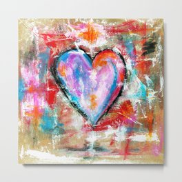Reckless Heart, Abstract Art Painting Metal Print