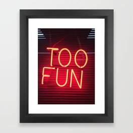 Too Fun! Framed Art Print