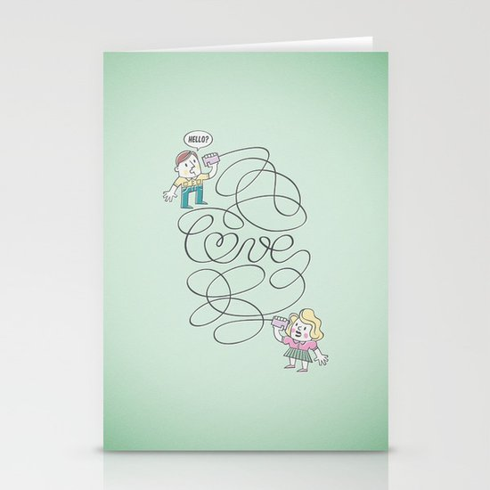 Long Distance Call Stationery Cards