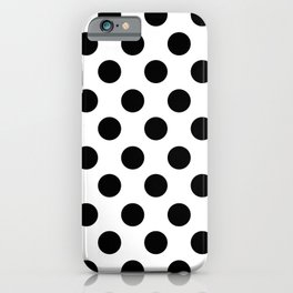 Black and White Medium Polka Dots iPhone Case