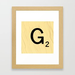 Scrabble G Decor, Scrabble Art, Large Scrabble Prints, Word Art, Accessories, Apparel, Home Decor Framed Art Print
