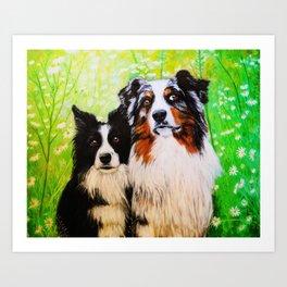 Two friends. Art Print