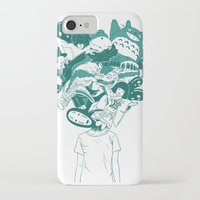 studio ghibli iPhone & iPod Cases featuring Studio ghibli mash up by Herdhi