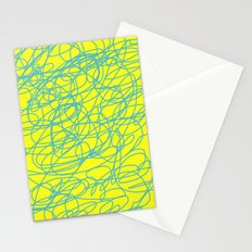 yellow random fun Stationery Cards