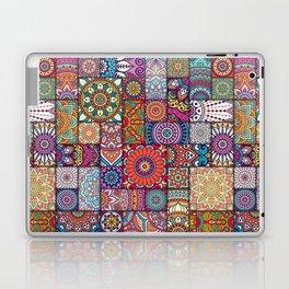 Boho Patchwork Quilt Pattern 2 Laptop & iPad Skin