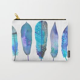 Feathers / Harmony in Blue Carry-All Pouch