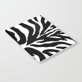 Black and white Zebra Stripes Design Notebook