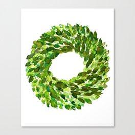 Boxwood Wreath Canvas Print