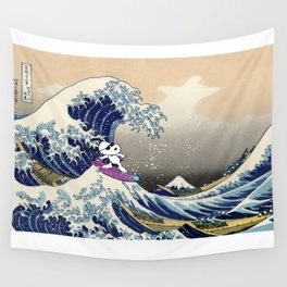 Snoopy and Hokusai Wall Tapestry