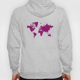 World with no Borders - sangria Hoody