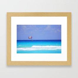 Calm Blue Water Framed Art Print