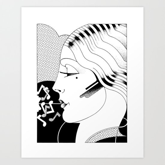 Just Whistle Art Print