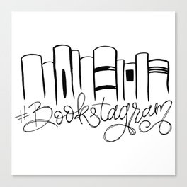 Bookstagram Canvas Print