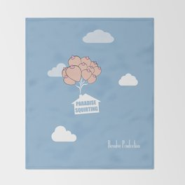Paradise Squirting Throw Blanket