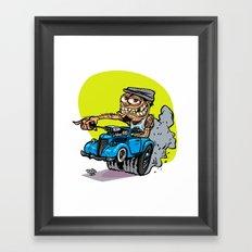 Drivers Cap HotRod Framed Art Print