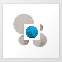 Circle Collage Art Print