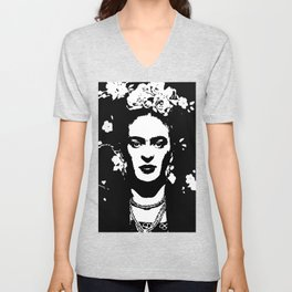 Black 'n white Frida Unisex V-Neck