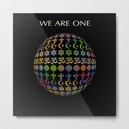 WE ARE ONE - color version Metal Print