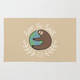 Save The Earth Sloth Rug