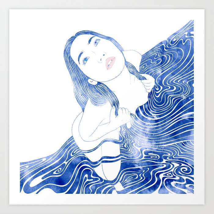Water Nymph XCVII Art Print