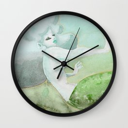 Green Mermaid Wall Clock
