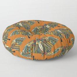 swallowtail butterfly copper Floor Pillow