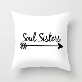 Soul Sisters Throw Pillow