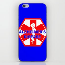 Alzheimer dementia medical identification ID tag iPhone Skin
