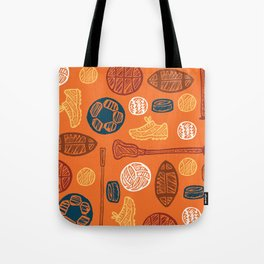 Sports Pattern Tote Bag