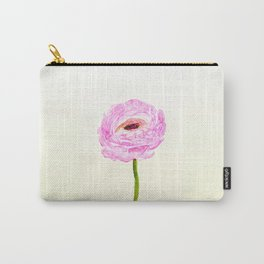 pink cultivited buttercup, Ranunculus Carry-All Pouch