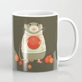 Mouse with a Christmas ball II Coffee Mug