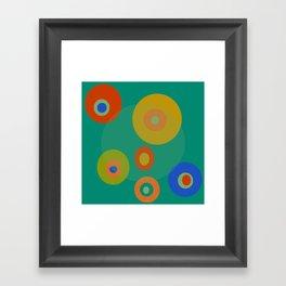 Colorul Geometric Circles Framed Art Print
