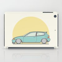 honda iPad Cases featuring Honda Civic EG vector illustration by Underground Worm