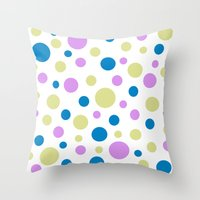 polka dot Throw Pillows featuring Polka Dot by Little Ladybird