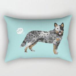 Australian Cattle Dog blue heeler funny fart dog breed gifts Rectangular Pillow