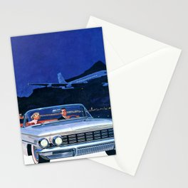 Chilling Retro Couple Stationery Cards