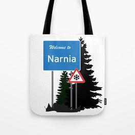 Narnia traffic Tote Bag