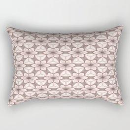 Sepia Beige Flower Trellis Rectangular Pillow