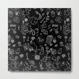 BLACK RANDOM HOPPER - TANUKI - OSCANIMATION Metal Print